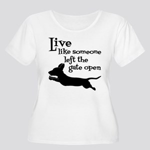 OPEN GATE! Women's Plus Size Scoop Neck T-Shirt