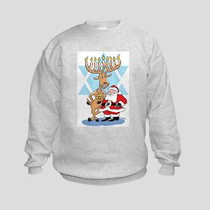 Jews 4 Santa Kids Sweatshirt