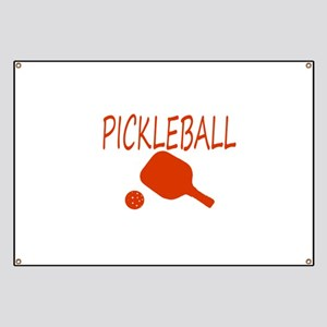Pickleball with ball and paddle sport Banner