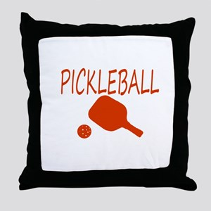 Pickleball with ball and paddle sport Throw Pillow