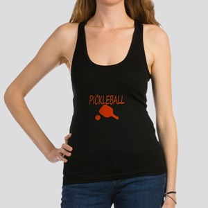 Pickleball with ball and paddle sport Racerback Ta