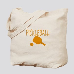 Pickleball with ball and paddle sport Tote Bag