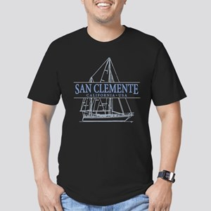San Clemente Men's Fitted T-Shirt (dark)