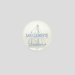 San Clemente Mini Button