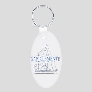 San Clemente Aluminum Oval Keychain