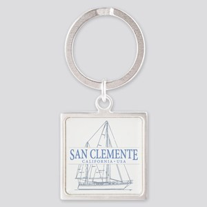 San Clemente Square Keychain