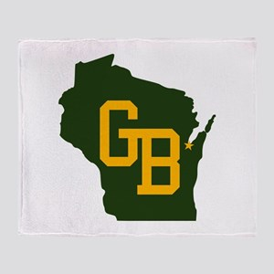 GB - Wisconsin Throw Blanket