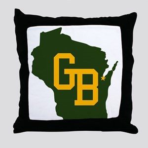 GB - Wisconsin Throw Pillow