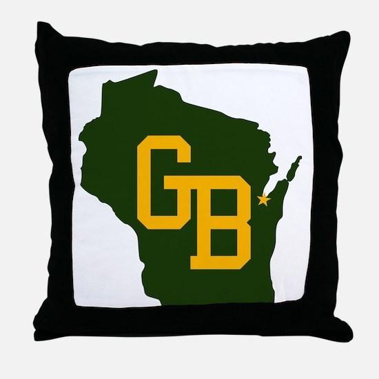 GB - Wisconsin Throw Pillow