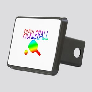 Pickleball with ball and paddle sport Hitch Cover
