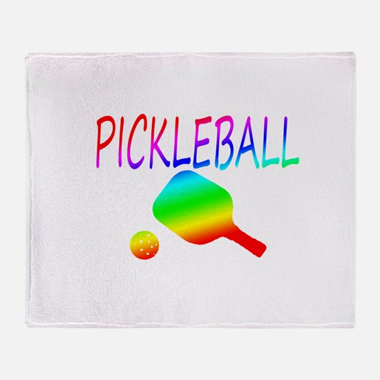 Pickleball with ball and paddle sport Throw Blanke