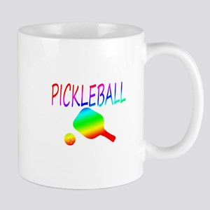 Pickleball with ball and paddle sport Mugs