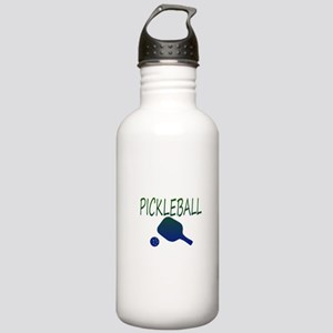Pickleball with ball and paddle sport Water Bottle