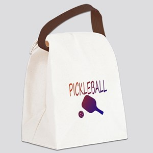 Pickleball with ball and paddle sport Canvas Lunch