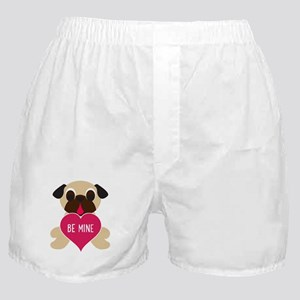 Valentine's Day Pug - Be Mine Boxer Shorts
