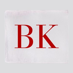 BK-bod red2 Throw Blanket
