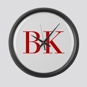 BK-bod red2 Large Wall Clock