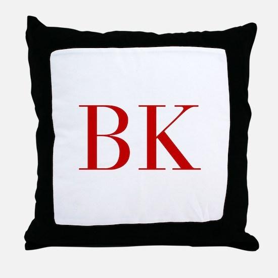 BK-bod red2 Throw Pillow