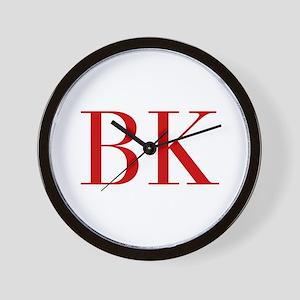 BK-bod red2 Wall Clock