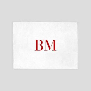 BM-bod red2 5'x7'Area Rug