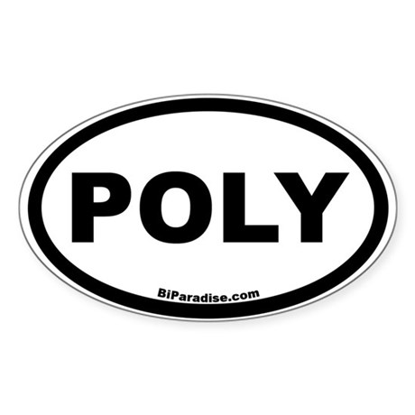 POLY Oval Sticker
