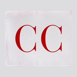 CC-bod red2 Throw Blanket