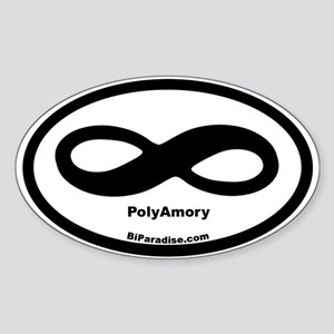 Infinite Love Oval Sticker