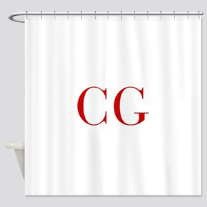 CG-bod red2 Shower Curtain