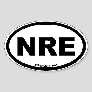 NRE Oval Sticker