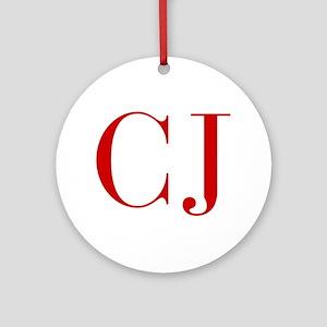 CJ-bod red2 Ornament (Round)