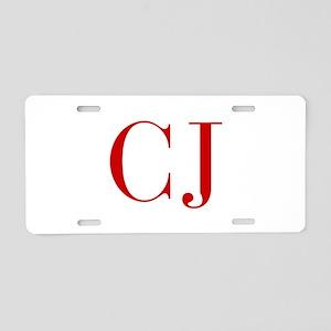 CJ-bod red2 Aluminum License Plate