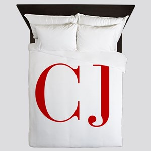 CJ-bod red2 Queen Duvet