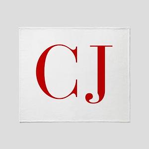 CJ-bod red2 Throw Blanket