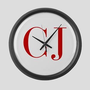 CJ-bod red2 Large Wall Clock