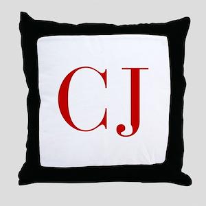 CJ-bod red2 Throw Pillow