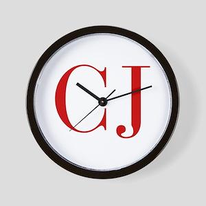 CJ-bod red2 Wall Clock
