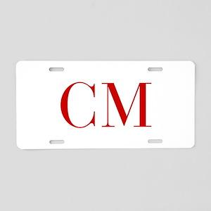 CM-bod red2 Aluminum License Plate