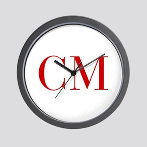 CM-bod red2 Wall Clock