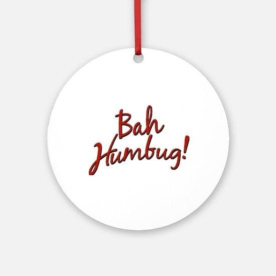 Bah, Humbug Ornament (Round)
