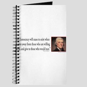 Thomas Jefferson explains Democracy Journal