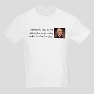 Thomas Jefferson explains Democ Kids Light T-Shirt