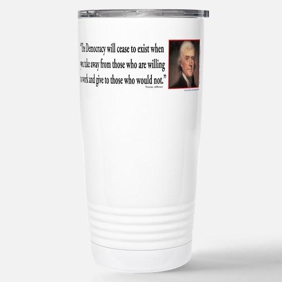 Thomas Jefferson explai Stainless Steel Travel Mug