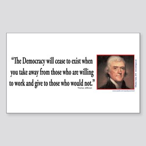 Thomas Jefferson explains Demo Sticker (Rectangle)