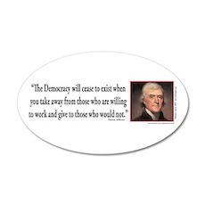 Thomas Jefferson explains De Wall Decal