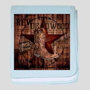 western cowboy baby blanket