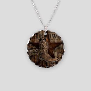 western cowboy Necklace Circle Charm