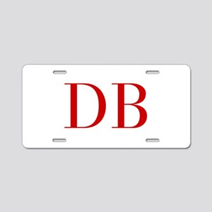 DB-bod red2 Aluminum License Plate
