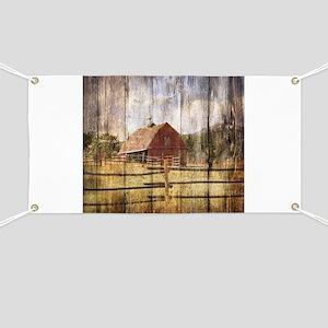 farm red barn wood texture Banner