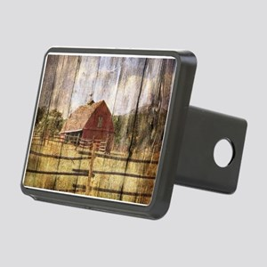 farm red barn wood texture Rectangular Hitch Cover