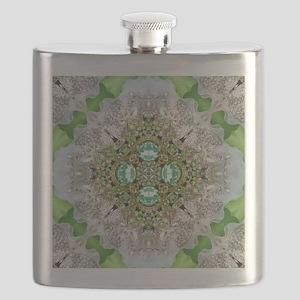 green diamond bling Flask